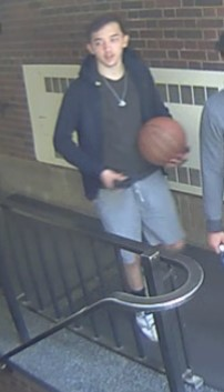 person holding a basketball