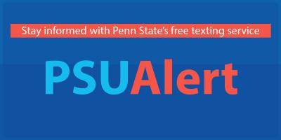 PSU Alert: stay informed with Penn State's texting free service