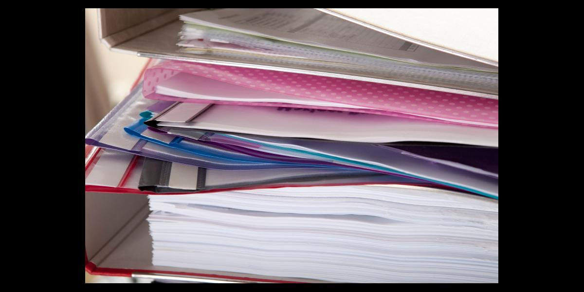 Paperwork and folders