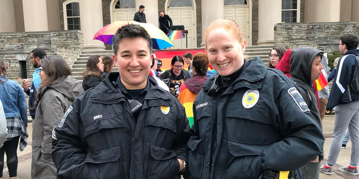Officers attend Campus Pride March