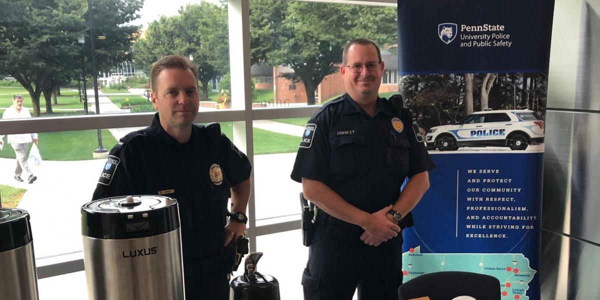 Officers hosting coffee event